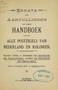 Cover of Errata en aanvullingen op het handboek over alle postzegels van Nederland en koloniën