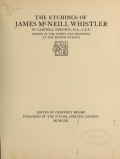 """Cover of """"The etchings of James McNeill Whistler /"""""""