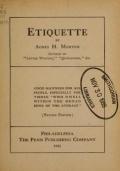 Cover of Etiquette