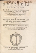 Cover of Euclidis Phaenomena post Zamberti and Maurolyci editionem