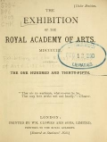 Cover of The Exhibition of the Royal Academy of Arts MDCCCCIII