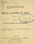 Cover of The Exhibition of the Royal Academy of Arts MDCCCC