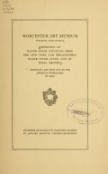 """Cover of """"Exhibition of water color paintings from the New York and Philadelphia water color clubs, and of small bronzes /"""""""