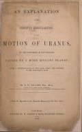 """Cover of """"An explanation of the observed irregularities in the motion of Uranus"""""""