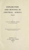 Cover of Exploration and hunting in central Africa 1895-96