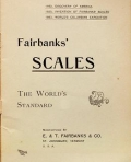 Cover of Fairbanks' scales, the world's standard