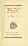 Cover of Famous American belles of the nineteenth century