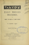 Cover of Fancy dresses described