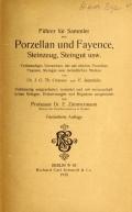 Cover of Führer für sammler von Porzellan und Fayence, Steinzeug, Steingut usw