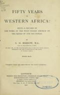 Cover of Fifty years in Western Africa