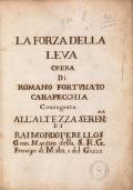 Cover of La forza della leva
