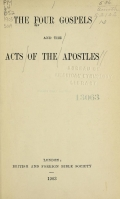 Cover of The four Gospels, and the Acts of the Apostles