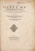 Cover of Francisci VietAi Opera mathematica
