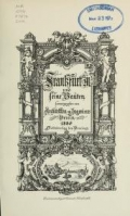 Cover of Frankfurt a. M. und seine Bauten