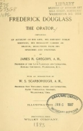 Cover of Frederick Douglass the orator