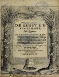 Cover of F. Thomæ Campanellæ De sensv rervm et magia, libri quatuor