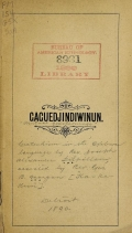 Cover of Gaguedjindiwinun