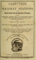 Cover of Gazetteer of railway stations in the United States and the Dominion of Canada