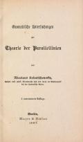 Cover of Geometrische Untersuchungen zur Theorie der Parallellinien