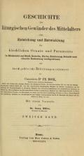"""Cover of """"Geschichte der liturgischen Gewänder des Mittelalters"""""""