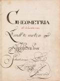 Cover of Gheometria oft de konste van Landt te meten