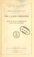 Cover of The glass industry