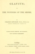Cover of Glaucus, or, The wonders of the shore