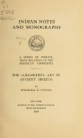 Cover of The goldsmith's art in ancient Mexico