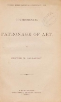 "Cover of ""Governmental patronage of art"""