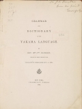 Cover of Grammar and dictionary of the Yakama language