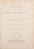 Cover of The grammar of painting and engraving;