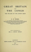 """Cover of """"Great Britain and the Congo"""""""
