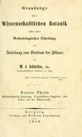 Cover of Grundzüge der wissenschaftlichen Botanik - nebst einer methodologischen Einleitung als Anleitung zum Studium der Pflanze