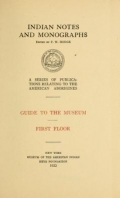 Cover of Guide to the museum, first floor