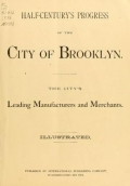 Cover of Half-century's progress of the city of Brooklyn