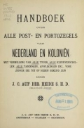 Cover of Handboek over alle post- en portozegels van Nederland en Kolonieln
