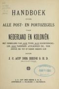"""Cover of """"Handboek over alle post- en portozegels van Nederland en Koloniën"""""""