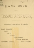 Cover of Handbook of tissue paper work