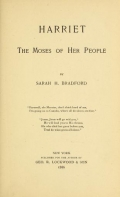 Cover of Harriet, the Moses of her people