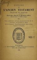 Cover of Histoire de l'Ancien Testament traduite en iroquois