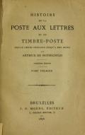 """Cover of """"Histoire de la poste aux lettres et du timbre-poste"""""""