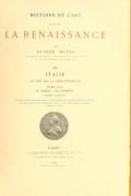 Cover of Histoire de l'art pendant la renaissance,