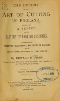 Cover of The history of the art of cutting in England