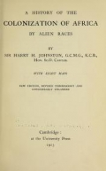 Cover of A history of the colonization of Africa by alien races