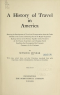 Cover of A history of travel in America v.4 (1915)