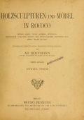 Cover of Holzsculpturen und Möbel in Rococo
