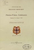 Cover of Hudson-Fulton celebration, September 25 to October 9, 1909
