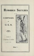 "Cover of ""Humorous sketches of the campaign in G.E.A"""