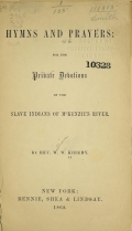 Cover of Hymns and prayers