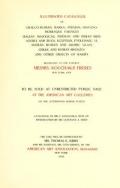 Cover of Illustrated Catalogue of Graeco-Roman, Rakka, Persian, Hispanomoresque Faiences, Italian Majolicas, Persian and Indian Miniatures